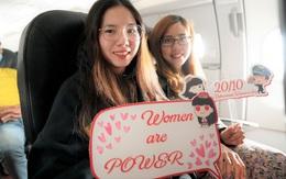"""Chuyến bay đặc biệt với thông điệp """"Phái đẹp là số 1"""" mừng 20/10"""