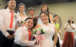 """""""Giấc mơ mặc áo cưới có thật"""" của những người khuyết tật"""