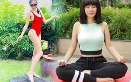 Giảm cân lạ như cách của mỹ nhânViệt: Thuỷ Tiên  chỉ ngồi thở, Việt Trinh mặc áo mưa chạy bộ