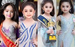 Hoa hậu nhí Thái Lan 6 tuổi cũng đã make-up đậm đà,  đi giày cao gót tựa quý bà