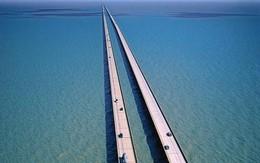 Cận cảnh cây cầu dài nhất thế giới: Đi mãi không đến nơi khiến bà bầu đẻ ngay trên cầu