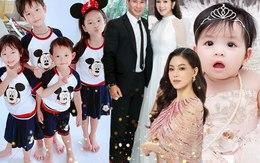 """1/6: Lý Hải - Minh Hà cho con lên đồ nhóm Mickey,  con gái """"bà trùm Hoa hậu"""" đội vương miện"""