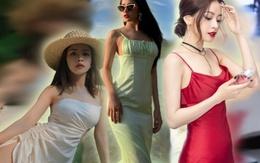Chẳng cần bikini khoe da thịt, Chi Pu vẫn gợi cảm với đường cong lấp ló nhờ kiểu váy này
