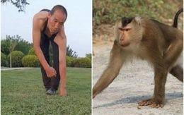 Người đàn ông 30 năm đi bộ bằng cả 4 chi, leo trèo như khỉ vì lý do đặc biệt