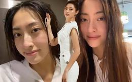 Đang mùa thi, Lương Thùy Linh vẫn tranh thủ ca trưa trốn đi tập gym