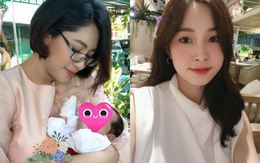 Hình ảnh khác nhau của 2 nàng Hậucùng tên Đặng Thu Thảo vừa sinh con