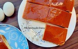 Học 9X làm bánh bông lan caramen thơm nức, mềm tan trong miệng