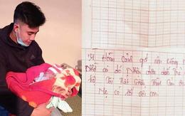 Bé gái sơ sinh bị bỏ rơi trong tiết trời rét buốt cùng lá thư của người mẹ