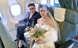 """Cặp đôi tổ chức """"đám cưới trên mây"""" ở độ cao 10.000m"""