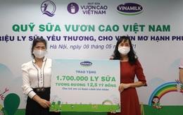 Vinamilk và Quỹ sữa Vươn cao Việt Nam trao tặng 1,7 triệu ly sữa hỗ trợ trẻ em khó khăn giữa dịch Covid-19