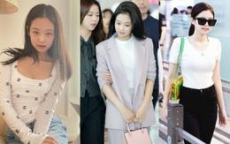 Học Jennie cách diện áo thun trắng đẹp xuất sắc