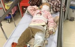 Sạt lở đất trong đêm, 2 cháu nhỏ bị thương phải nhập viện