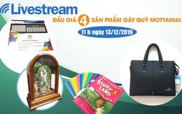11h00 ngày 13/12: Livestream đấu giá 4 sản phẩm hấp dẫn gây quỹ Mottainai