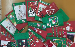 Những tấm thiệp giáng sinh ngọt ngào tặng trẻ em nhận học bổng Mottainai 2019