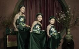 """Thanh Hương """"khoe"""" 2 con gái đáng yêu mặc yếm đào"""