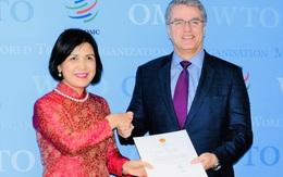 Đại sứ Lê Thị Tuyết Mai trình Thư ủy nhiệm đến Tổng Giám đốc WTO