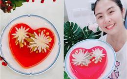 Hoa hậu Ngọc Hân lần đầu làm món ăn chơi đẹp như hoa, muốn cả thế giới khen mình