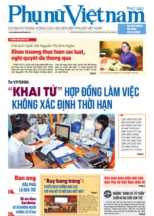 phụ nữ Việt Nam số 143 ra ngày 29/11/2019