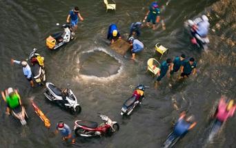 Những khoảnh khắc sinh động trong mùa mưa ở Sài Gòn
