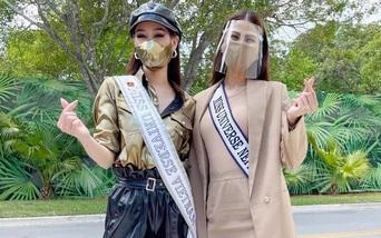Khánh Vân và các đối thủ đeo khẩu trang nhập cuộc Hoa hậu Hoàn vũ, thí sinh dương tính Covid-19 sẽ bị loại ngay