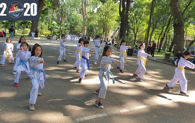 Hàng trăm em nhỏ biểu diễn võ thuật, gửi yêu thương đến Mottainai 2020