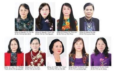 Cả nước có 9 nữ Bí thư Tỉnh ủy đương nhiệm - số lượng nhiều nhất trong những nhiệm kỳ gần đây