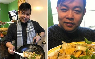 """Khoe """"nấu ăn cho vợ"""" món ngon nhưng chiếc chảo  của Quang Lê mới là tâm điểm"""