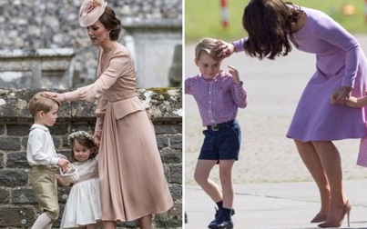 Cái chạm tay vào đầu con của Kate Middleton, tưởng vô tình nhưng lại mang ý nghĩa sâu xa