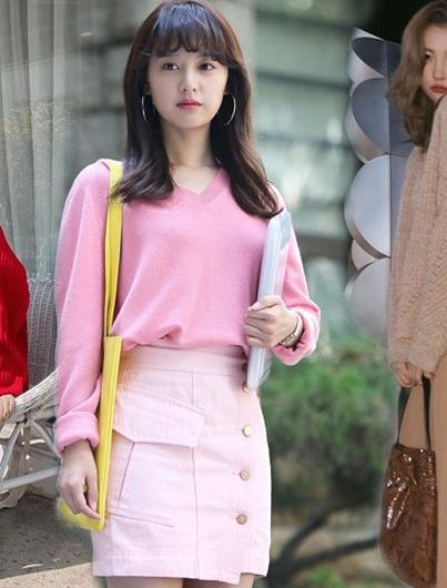 Áo len trơn màu đơn giản hóa sành điệu khi qua tay các mỹ nhân Hàn