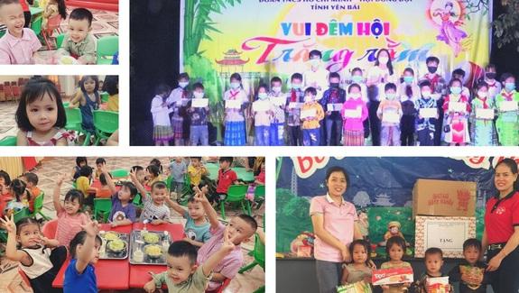 Trẻ em nghèo vùng cao Yên Bái vui mừng đón Tết Trung thu